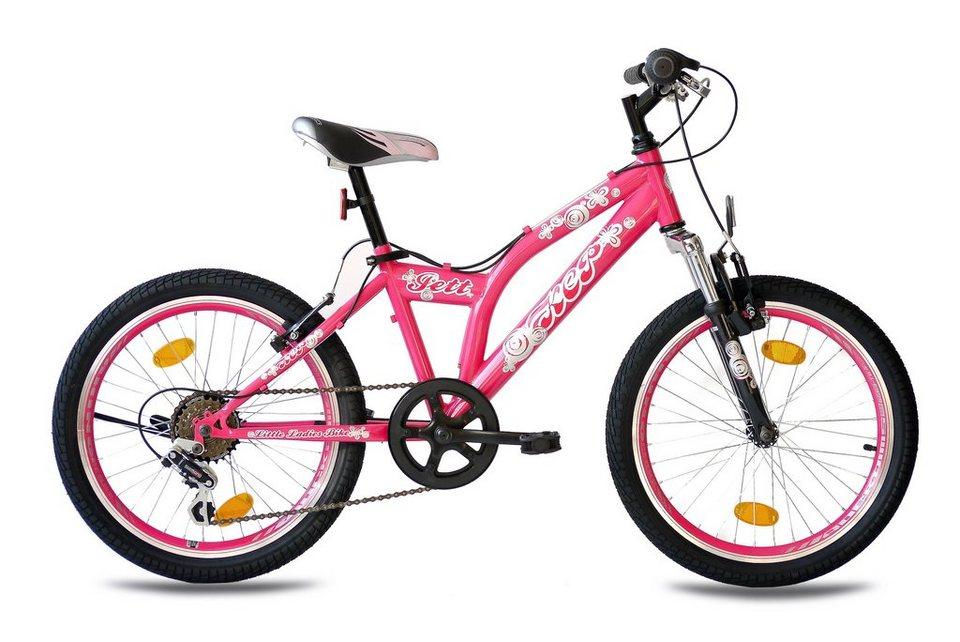 Kinderfahrrad Mädchen »Jett SF«, 20 Zoll, 6 Gang, V-Bremsen in rosa