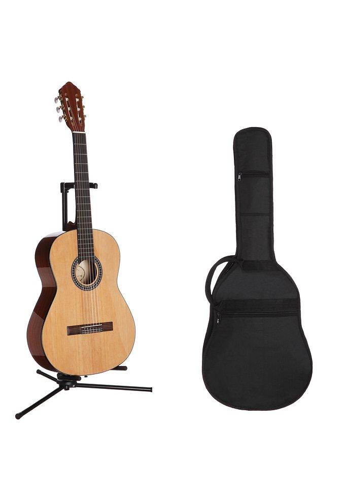 Konzertgitarre, MSA, »Jose Ribera® Konzertgitarrenset 4/4 HG62« in natur