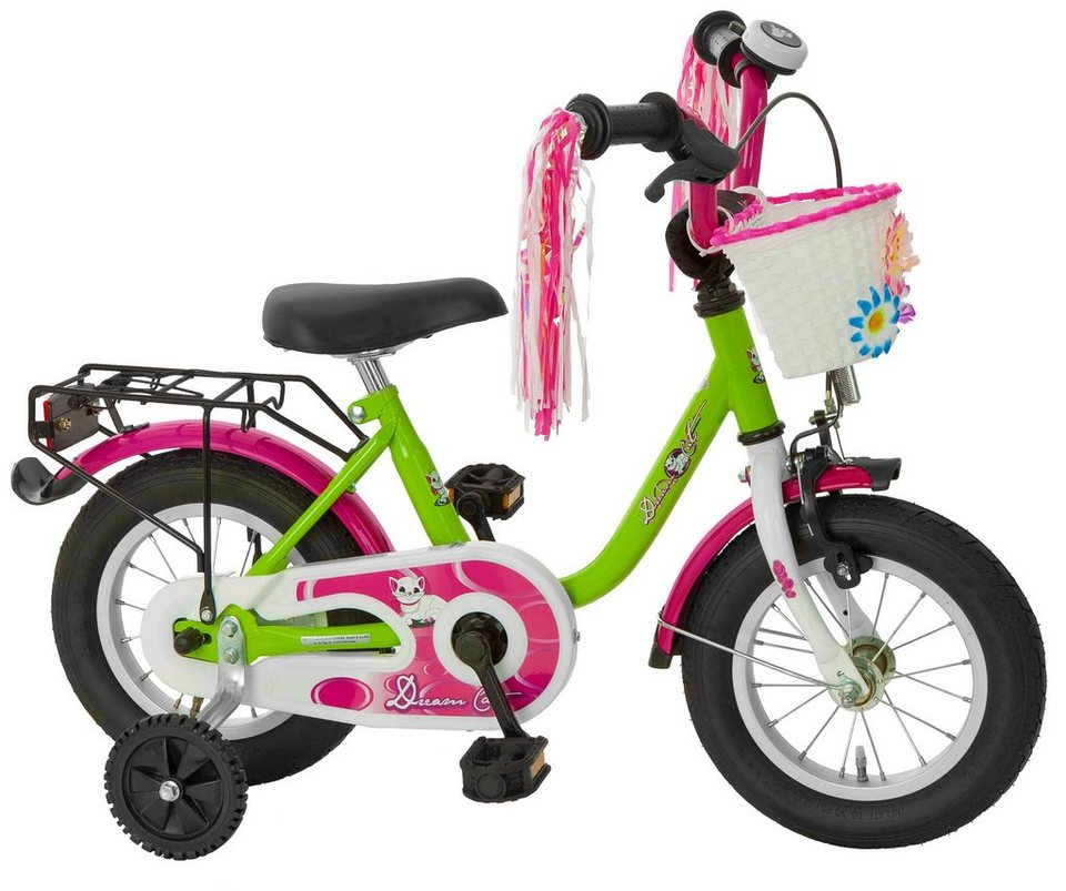 Cycles4Kids Kinderfahrrad »Dream Cat, 31,75cm (12,5Zoll), 35,6cm (14Zoll), 40,64cm (16Zoll), 45,72cm (18Zoll)« in grün