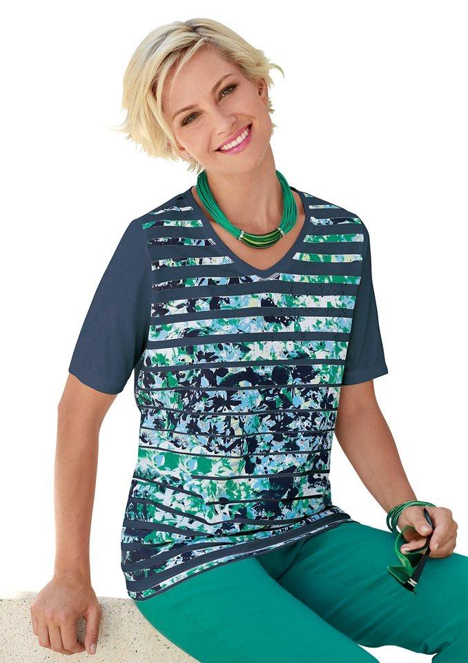 Collection L. Shirt in hochwertiger PURE WEAR-Qualität in marine-gemustert
