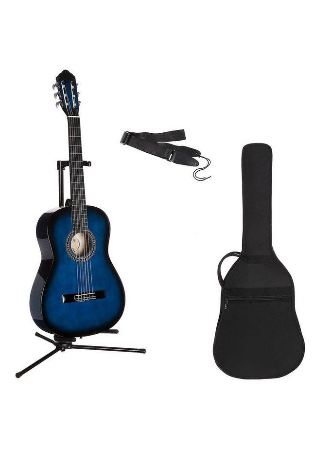 Kindergitarre für Rechts- und Linkshänder, »Konzertgitarren-Set 3/4«, MSA in blau schattiert