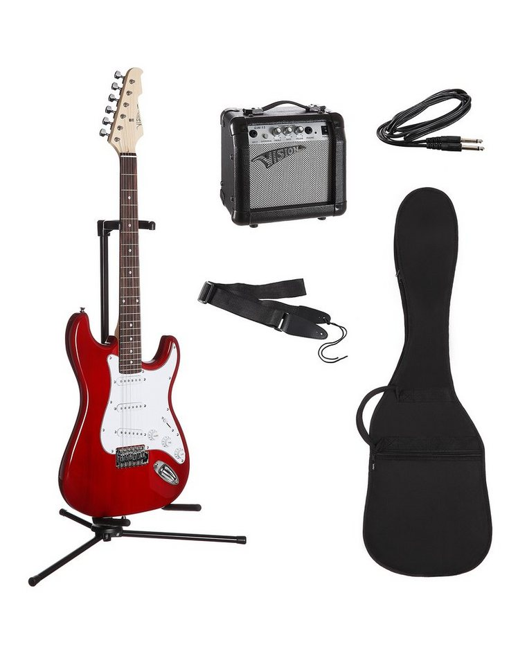 elektrisches gitarrenset f r rechts und linksh nder e. Black Bedroom Furniture Sets. Home Design Ideas
