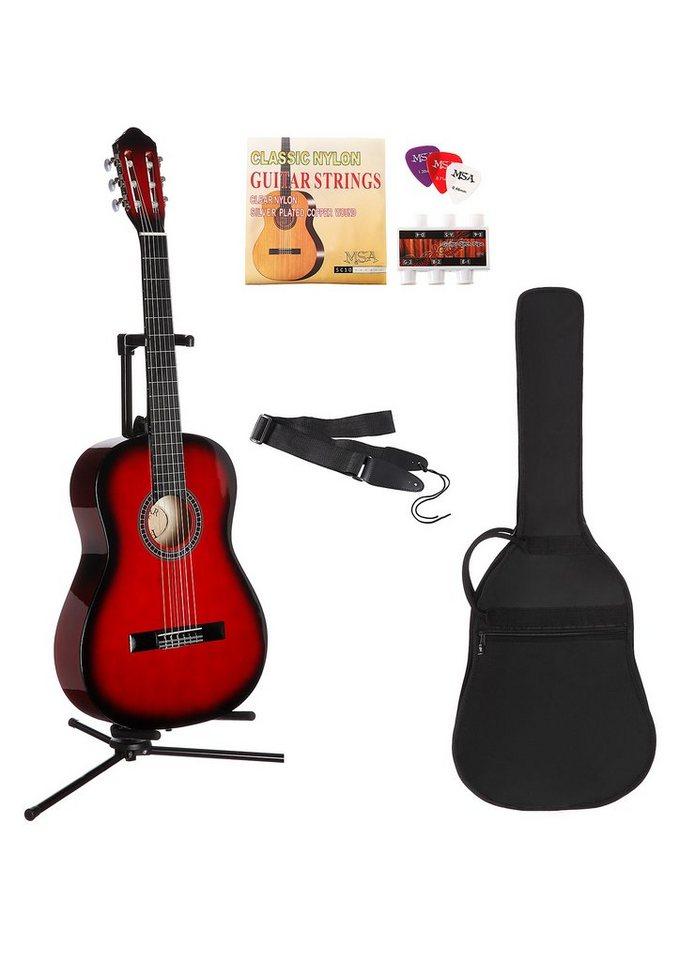 Gitarre, »Konzertgitarren-Set 4/4«, MSA in rot