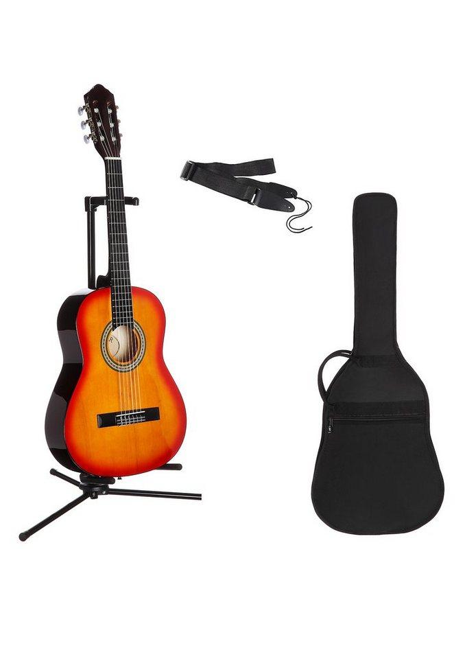 Kindergitarre für Rechts- und Linkshänder, »Konzertgitarren-Set 1/4«, MSA in sunburst