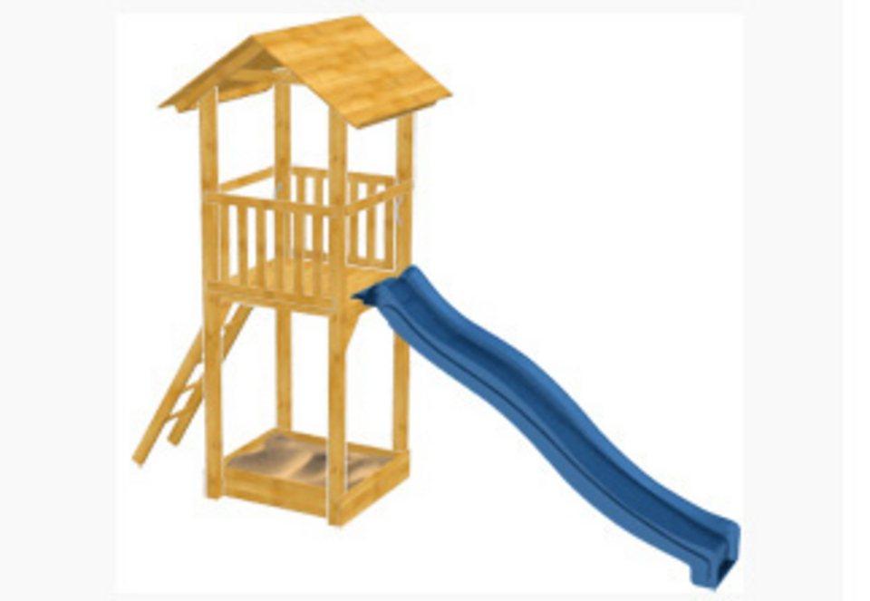 Dein Spielplatz Spielturm mit Wellenrutsche, blau »Pirate & Princess 4«
