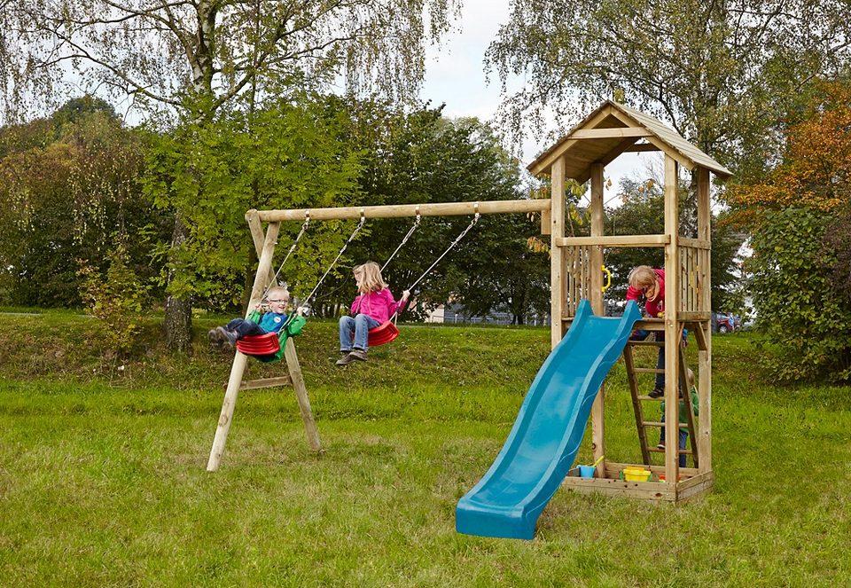 Dein Spielplatz Spielturm mit Sandkasten und Wellenrutsche, blau »Pirate & Princess 3«