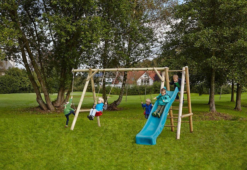 Dein Spielplatz Schaukel mit Wellenrutsche, blau »Leni Classic«