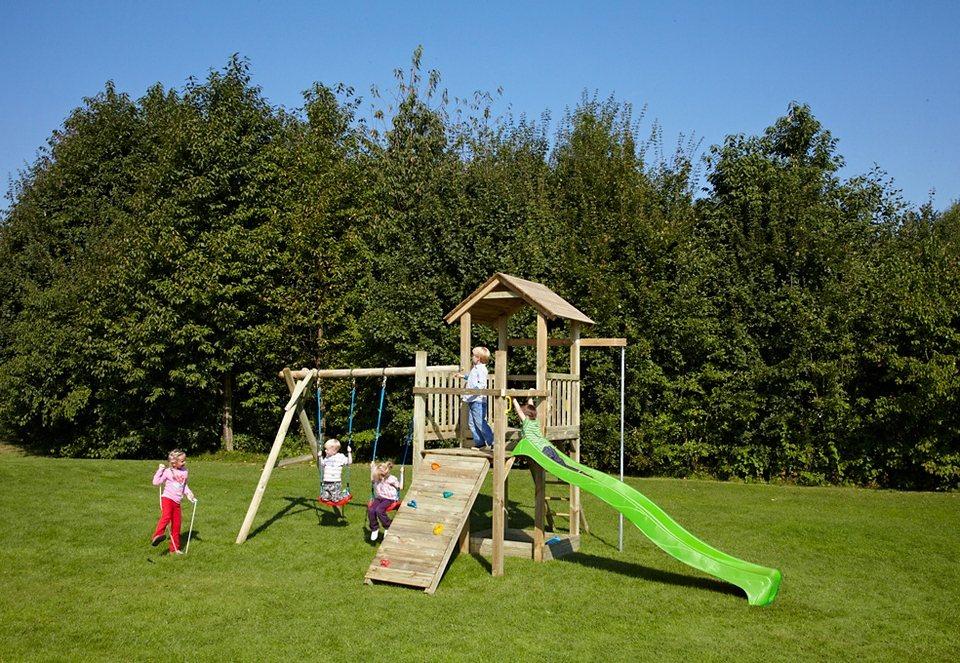 Dein Spielplatz Spielturm mit Sandkasten und Wellenrutsche, hellgrün »»Pirate & Princess 5« in natur