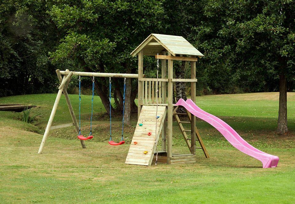 Dein Spielplatz Spielturm mit Wellenrutsche, pink »Pirate & Princess 6«