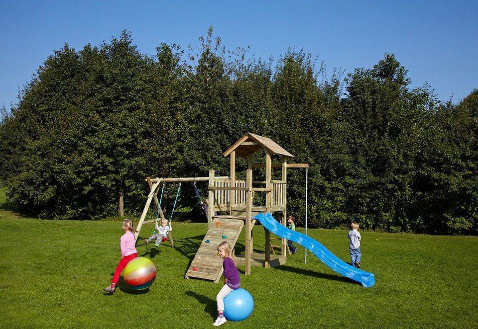 Dein Spielplatz Spielturm mit Sandkasten und Wellenrutsche, blau »Pirate & Princess 5«