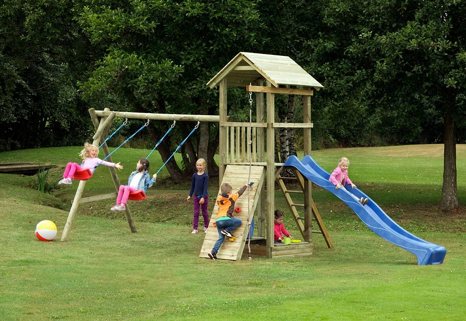 Dein Spielplatz Spielturm mit Wellenrutsche, blau »Pirate & Princess 6«. in blau