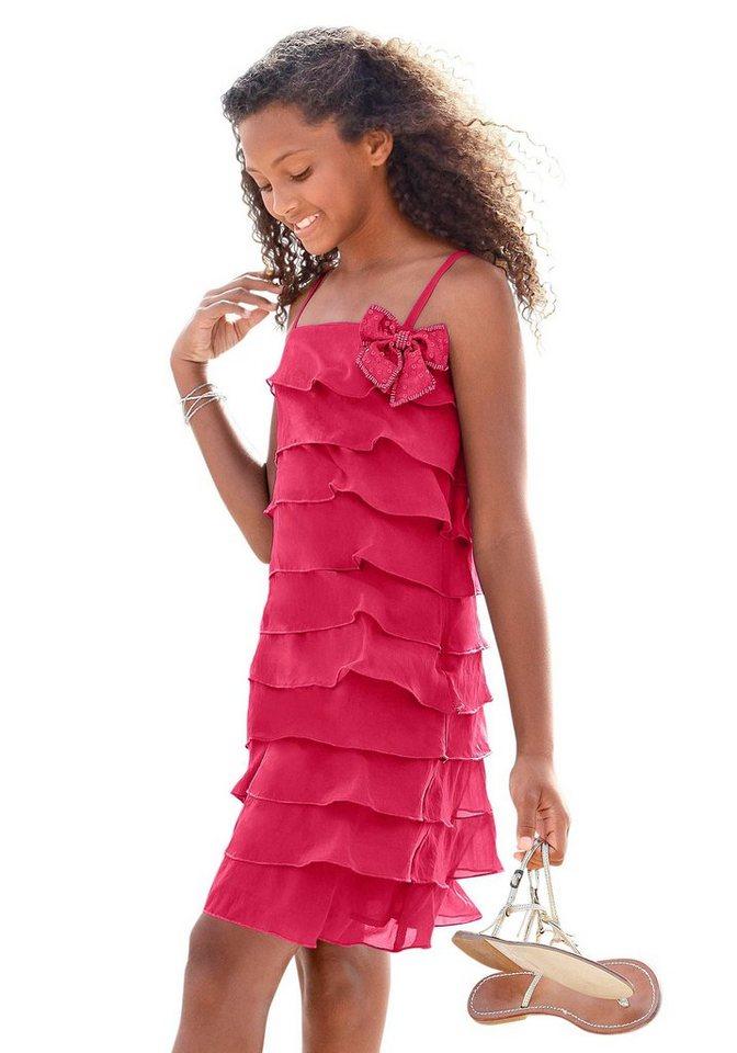 CFL Volantkleid mit kleiner Schleife in pink