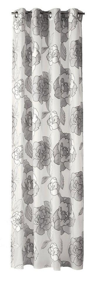 Vorhang, Esprit, »Roses« (1 Stück) in grau