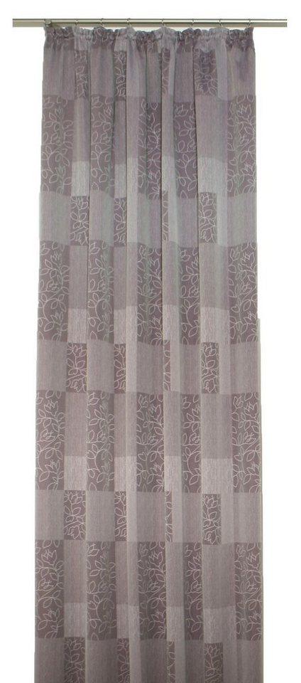 Vorhang, Wirth, »Jenny«, mit Kräuselband (1 Stück) in flieder