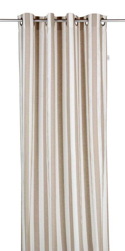 Vorhang, Tom Tailor, »Block Stripes«, mit Ösen (1 Stück) in natur