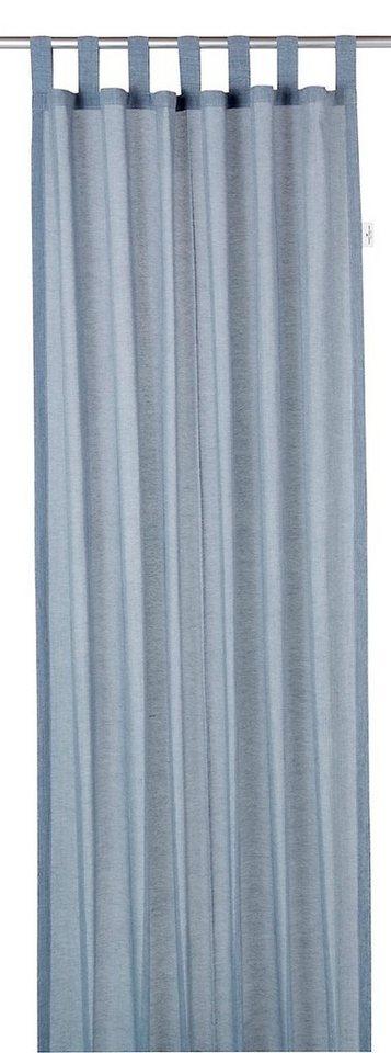 Vorhang, Tom Tailor, »Melange«, mit Schlaufen (1 Stück) in blau