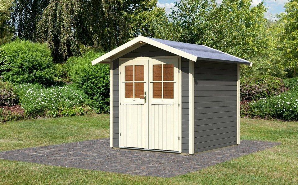 Gartenhaus »Smaland«, BxT: 200x200 cm in terragrau