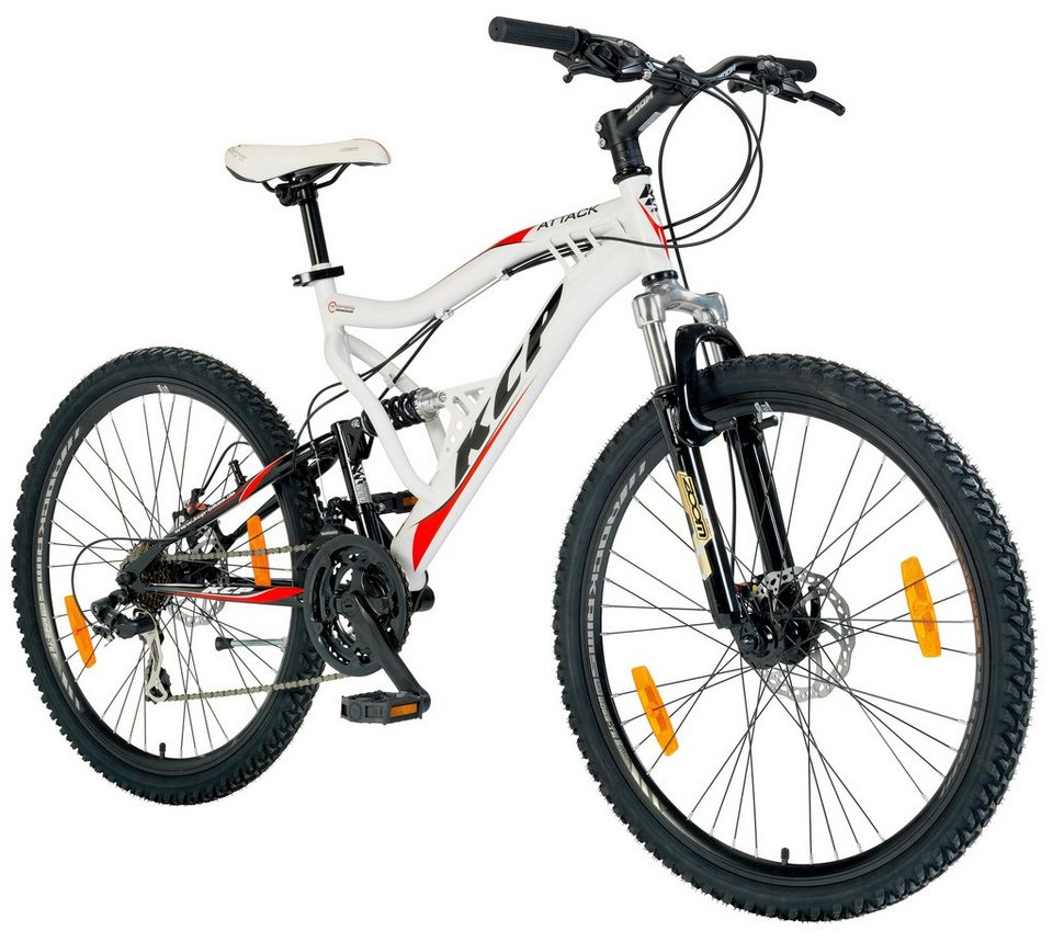 KCP Mountainbike »ATTACK, 66,04 cm (26 Zoll)« in weiß