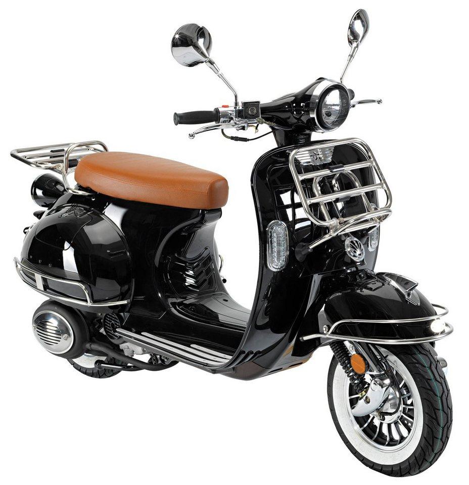 Motorroller »Cavallino«, 50 ccm, 45 km/h in schwarz
