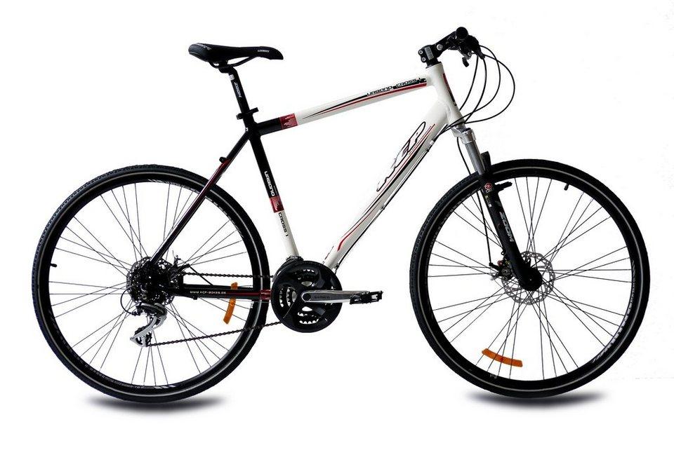 Crossbike »URBANO CROSSLINE 2.0«, 28 Zoll, 24 Gang, Scheibenbremsen in weiß
