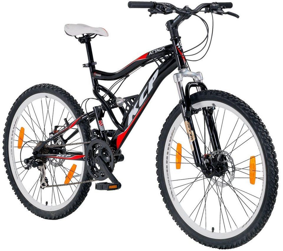 Mountainbike »ATTACK«, 26 Zoll, 21 Gang, Scheibenbremsen in schwarz
