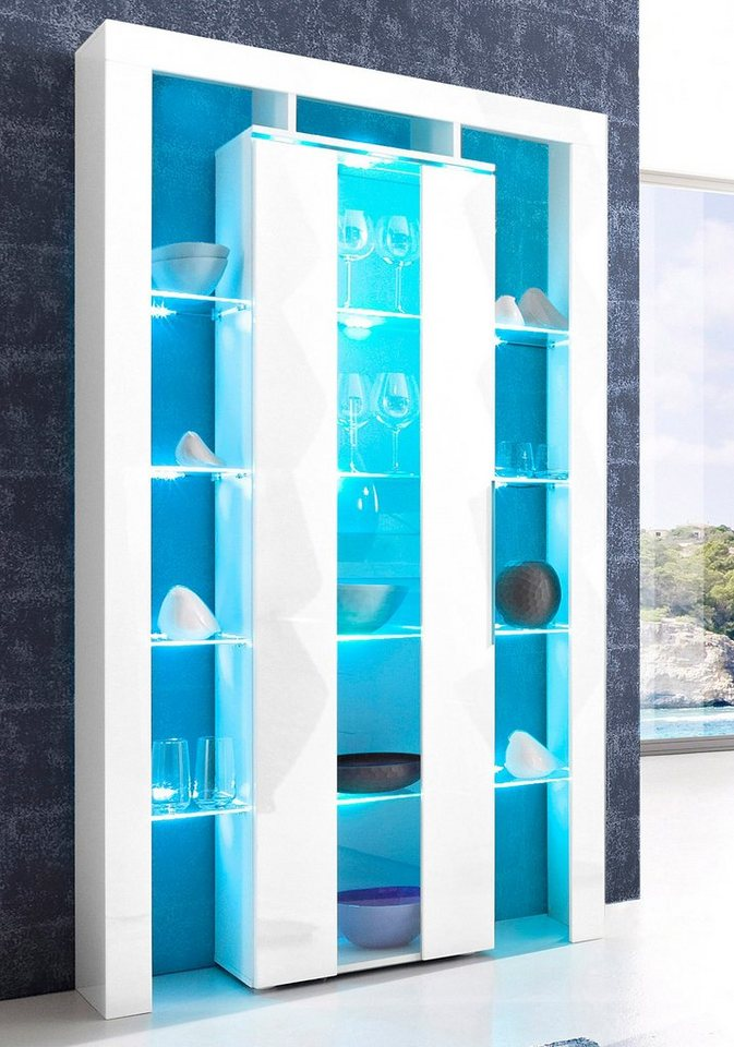 places of style vitrine h he 196 cm online kaufen otto. Black Bedroom Furniture Sets. Home Design Ideas