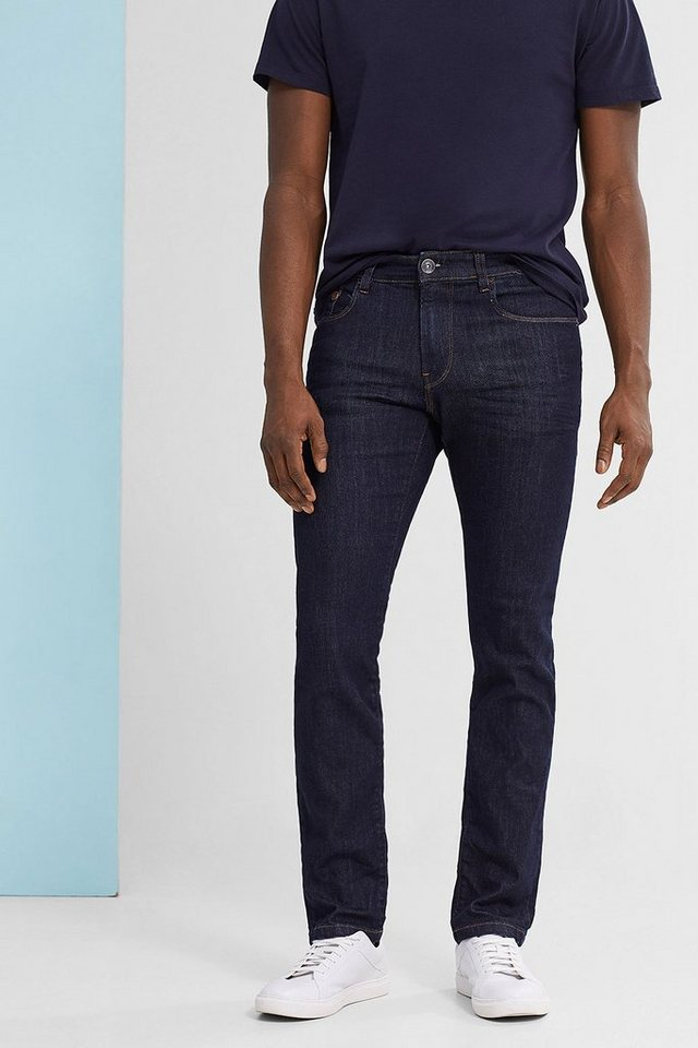 ESPRIT CASUAL Stretch-Jeans mit dunkler Waschung in RINSE BLUE