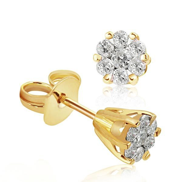 goldmaid Paar Ohrstecker Glamour Bicolor 585/- Gold 14 Brillanten 0,34 ct