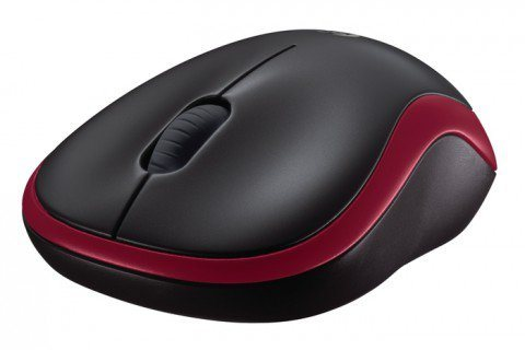 Logitech Maus »Wireless Mouse M185 Red - 910-002240«