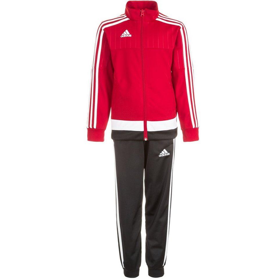 adidas Performance Set: Tiro 15 Polyesteranzug Kinder in rot / weiß / schwarz