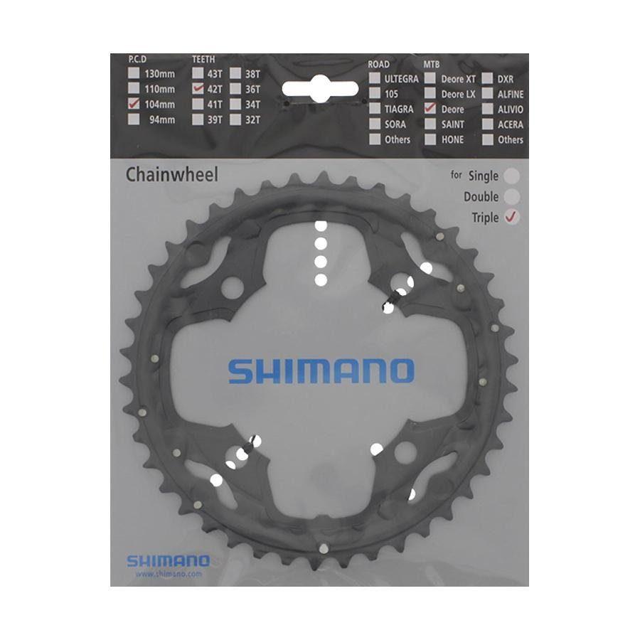 Shimano Kettenblatt »Shimano Deore FC-M590 Kettenblatt 10-fach 42 Zähne«