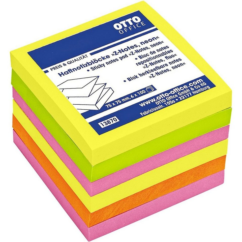OTTO Office Standard 6er-Pack Haftnotizen »Z-Notes«