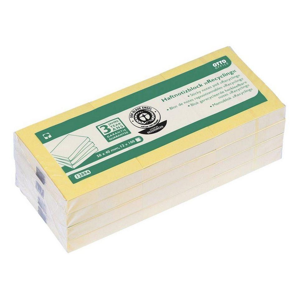 OTTOOFFICE_NATURE 12er-Pack Haftnotizblöcke »Recycling Notes«