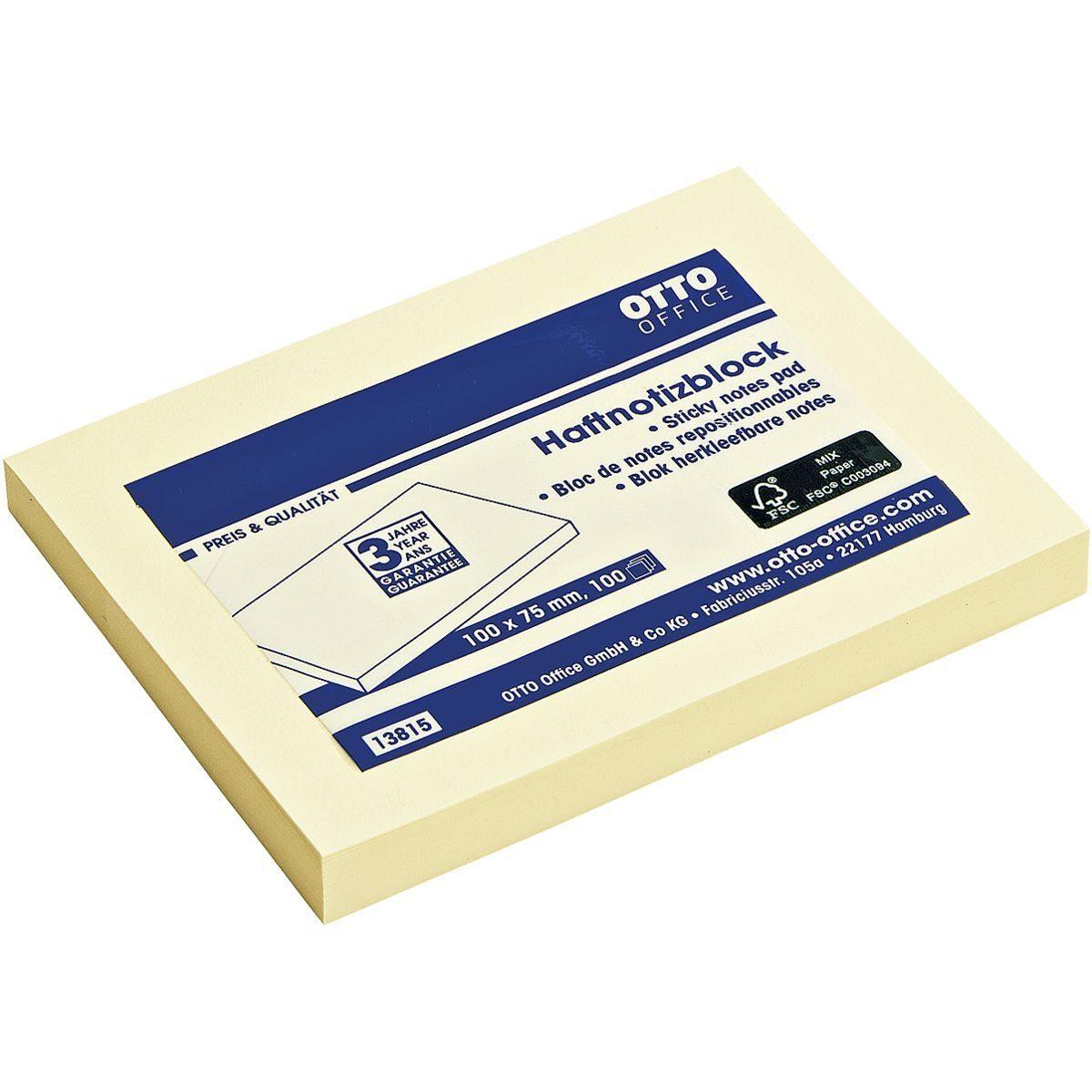 OTTO Office Standard Haftnotizblock 10,0 x 7,5 cm
