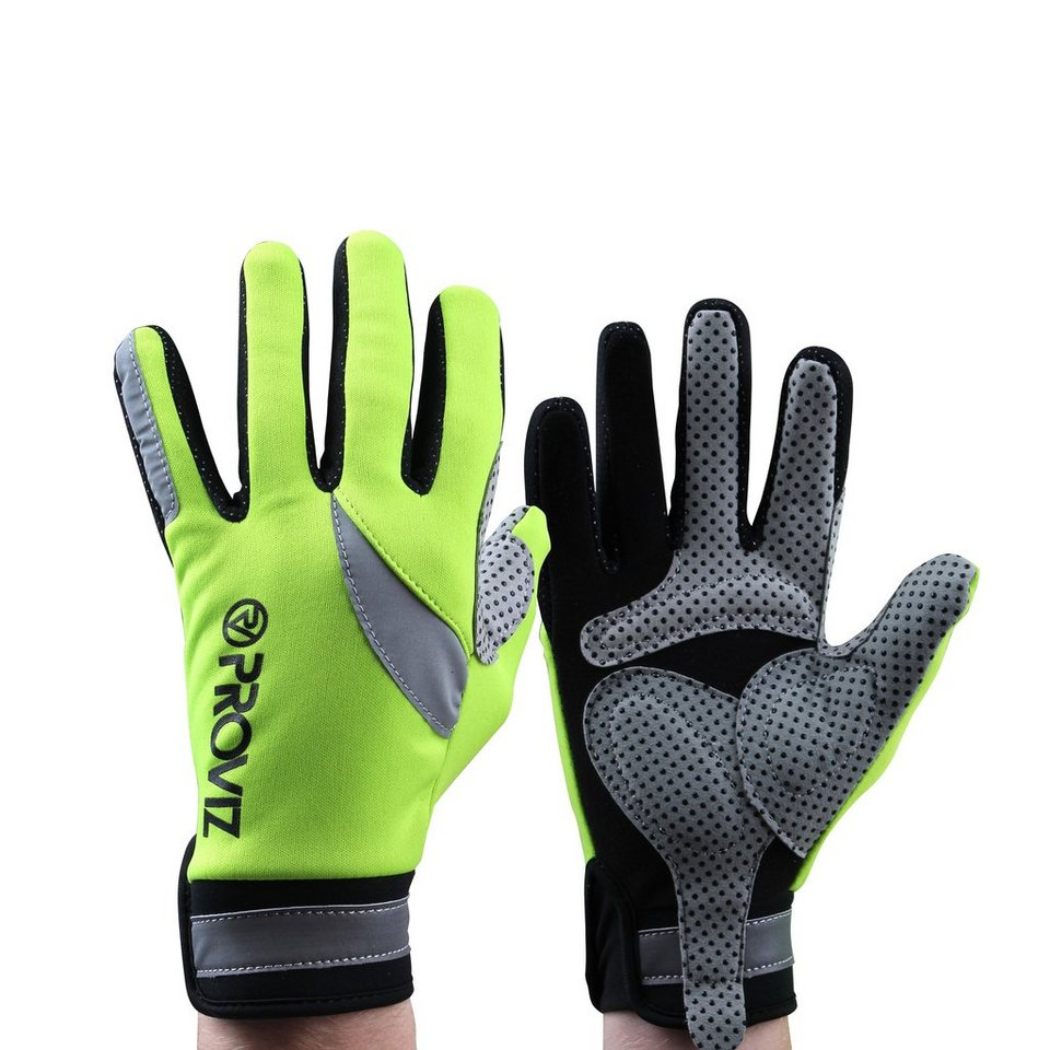 ProViz Fahrrad Handschuhe »High Visibility Glove Unisex yellow« in grün