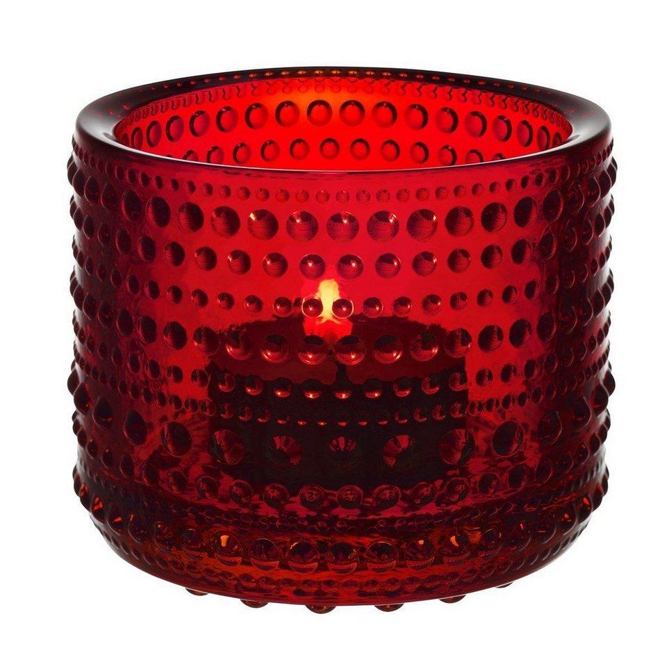 IITTALA Iittala Teelichthalter KASTEHELMI rot 6.4 cm in rot