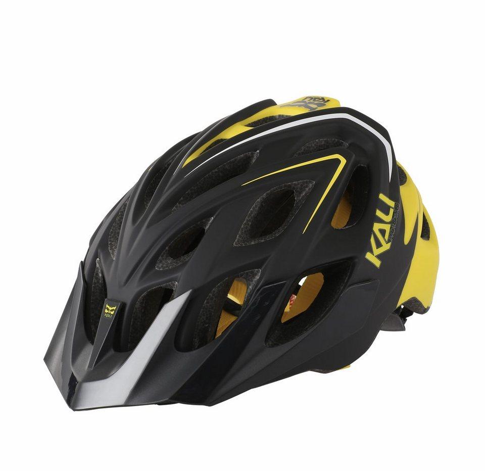 Kali Fahrradhelm »Chakra Plus Helm black/yellow« in schwarz