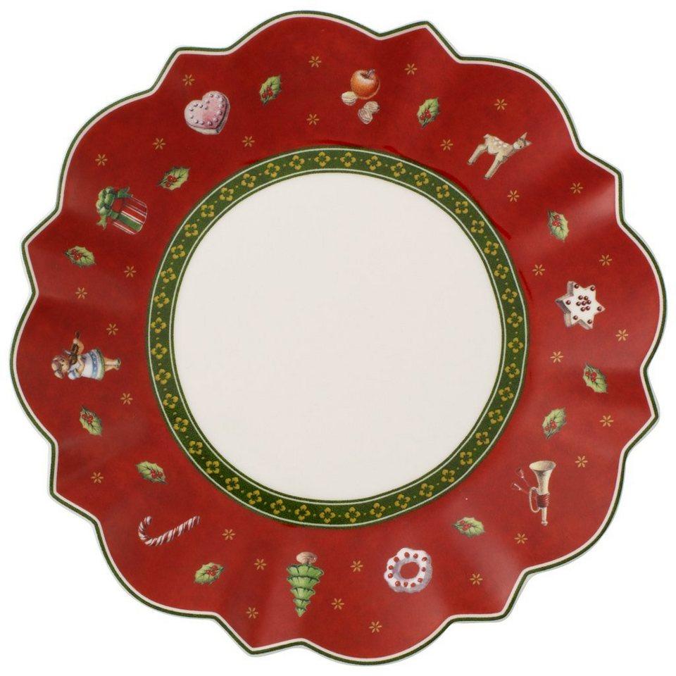 VILLEROY & BOCH Brotteller rot »Toy's Delight« in dekoriert