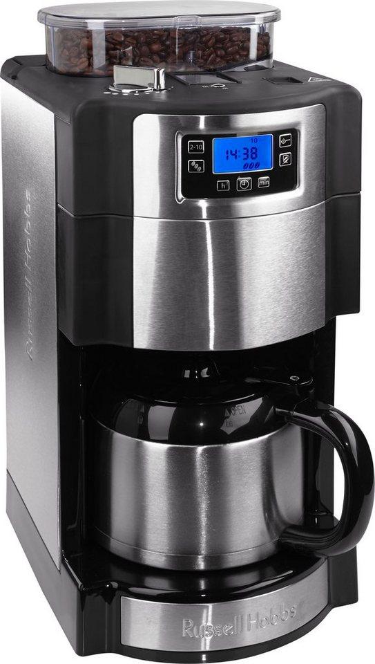 Russell Hobbs Kaffeemaschine Buckingham »Grind&Brew« Thermo Digital 21430-56, schwarz/silber in schwarz/Silber