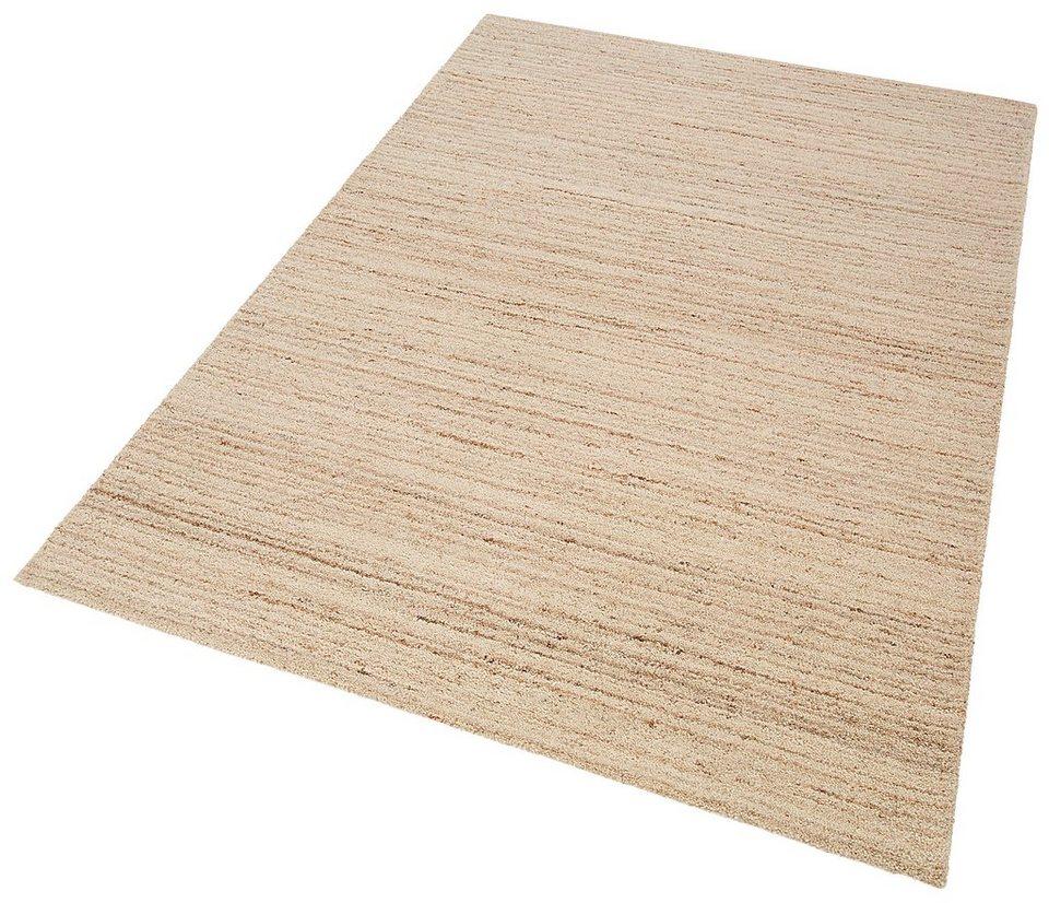 Teppich, Theko exklusiv, »Janne«, handgetuftet, Wolle, Berber Optik in melange