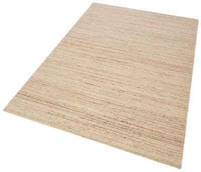 Wollteppich »Janne«, Theko Exklusiv, rechteckig, Höhe 14 mm, reine Wolle, Wohnzimmer