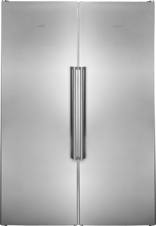 Siemens European Side by Side KA99FPI30, A ++, 186 cm hoch, NoFrost im Gefrierschrank in inox