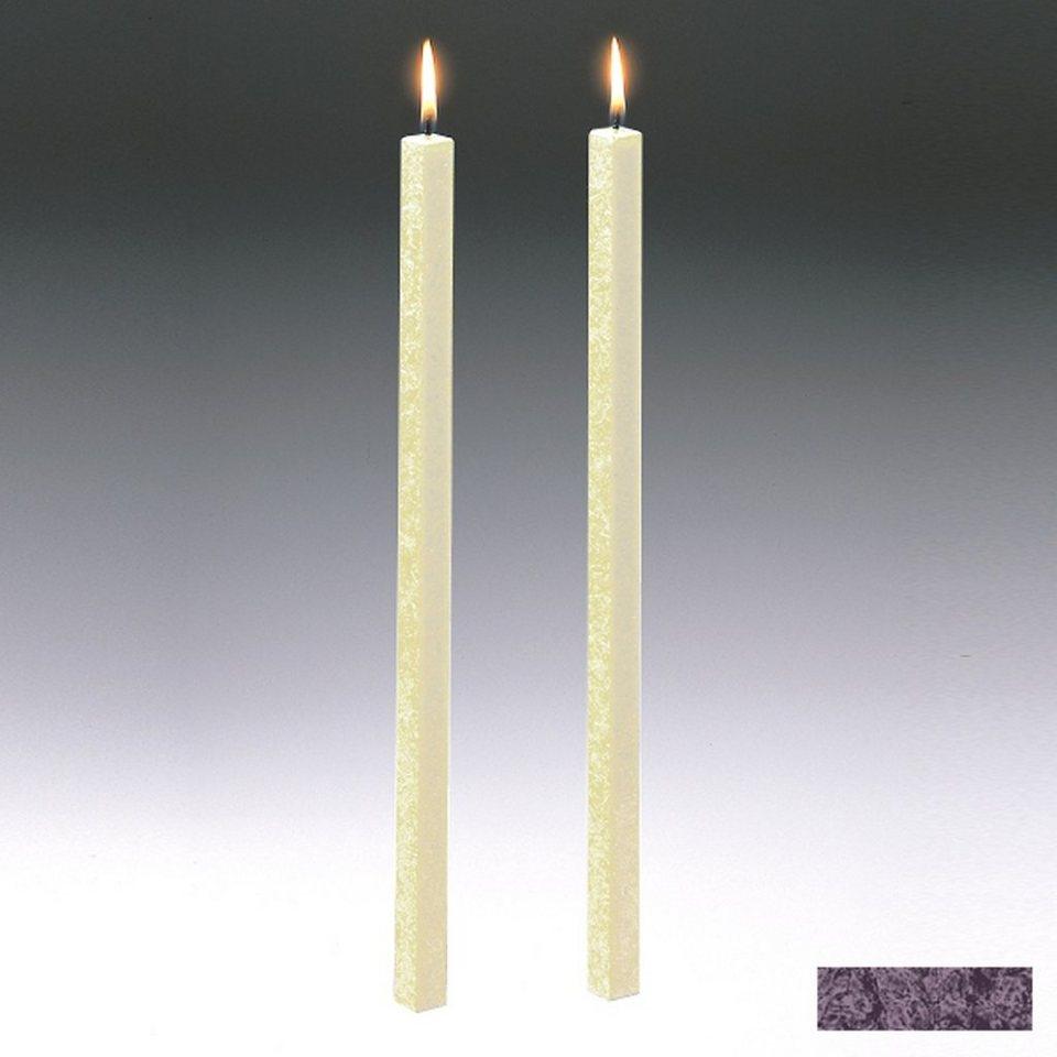 Amabiente Amabiente Kerze CLASSIC Aubergine 40cm - 2er Set in aubergine
