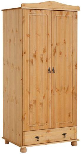Home affaire Kleiderschrank »Finca« aus schönem massivem Kiefernholz, Höhe 180 cm