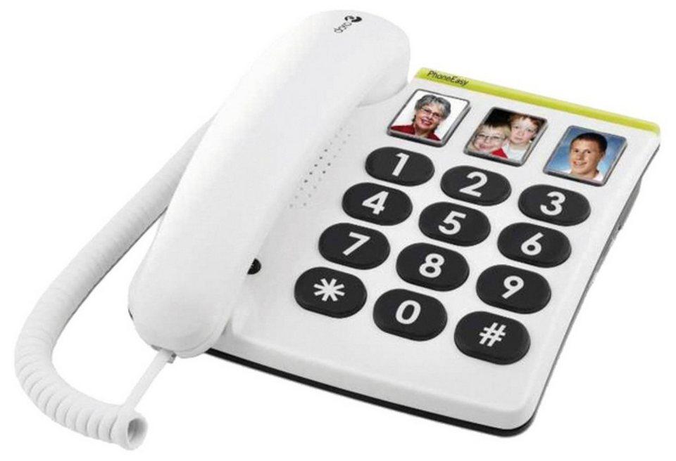 Doro Telefon analog schnurgebunden »Großtastentelefon PhoneEasy 331ph« in Weiß