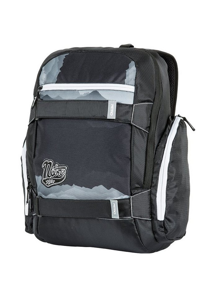 Nitro Schulrucksack, »Local - Mountains Black/White« in bunt