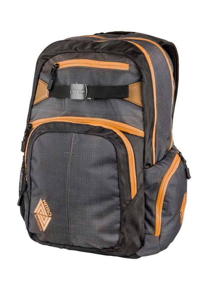 Nitro Schulrucksack, »Hero - Blur Orange Trims« in bunt