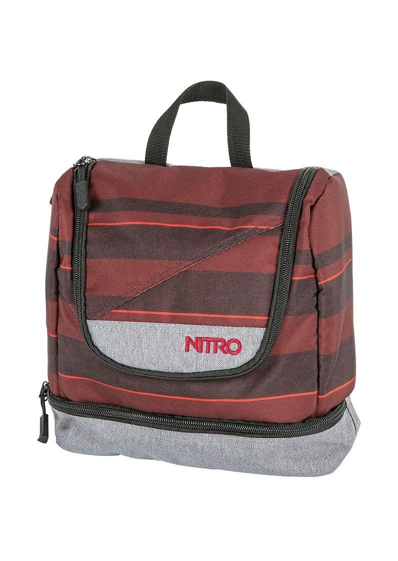 Nitro Reise Kulturtasche, »Travel Kit - Red Stripes«