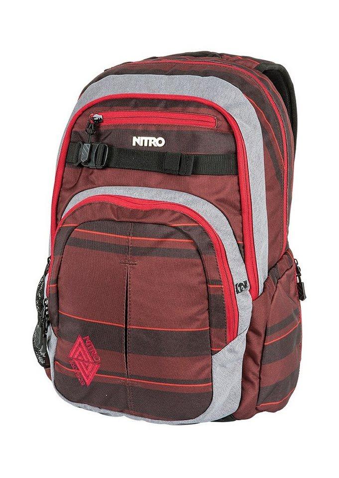Nitro Schulrucksack, »Chase - Red Stripes« in bunt