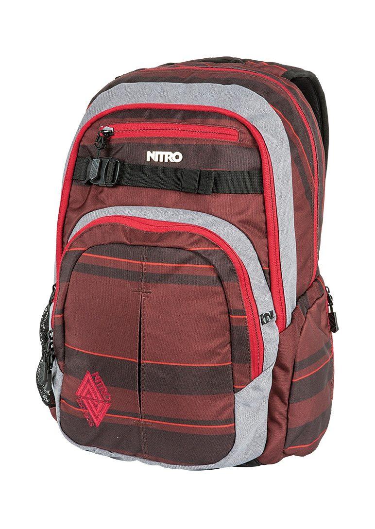 Nitro Schulrucksack, »Chase - Red Stripes«